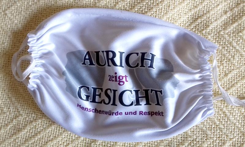 Mund-Nasen-Schutzmaske für Menschenwürde und Respekt